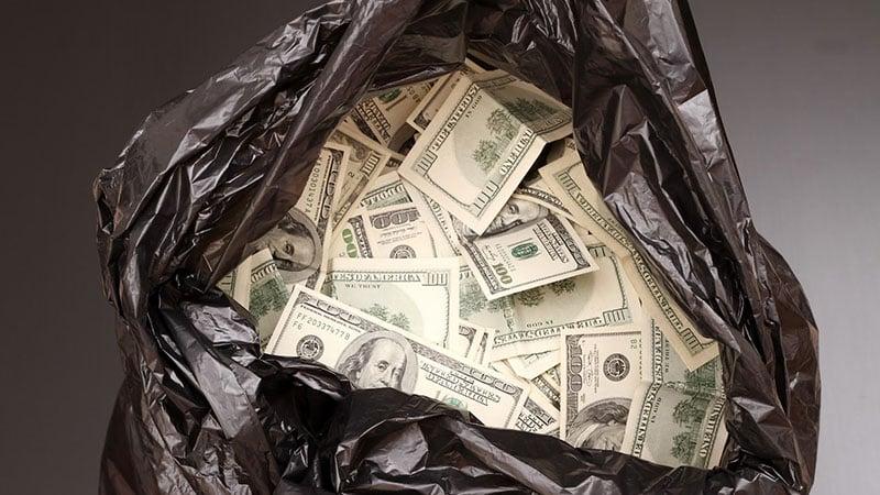 White oil spill sheets waste money