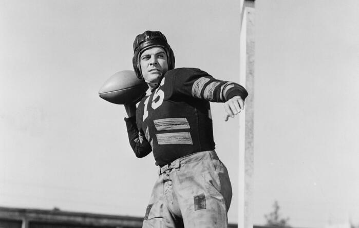 A hale and hardy football player