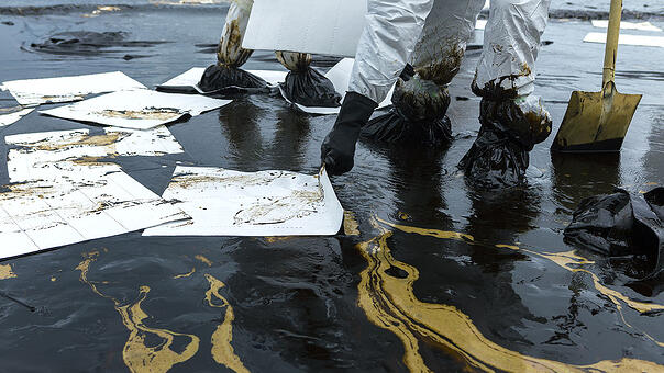 White Oil Sheets Were Not Designed for Outdoor Leaks